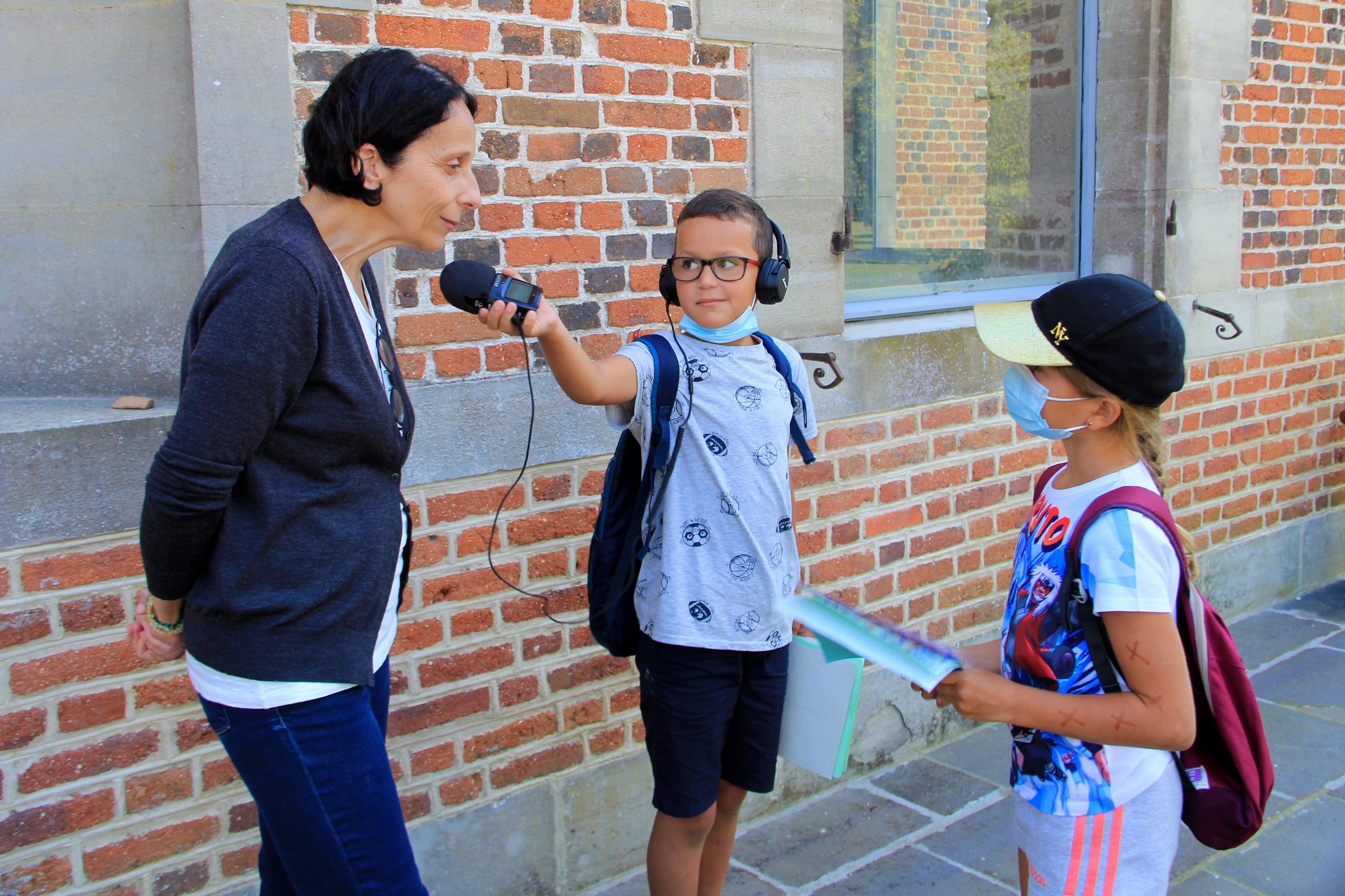 Patrimoine de Limagne : les journalistes du centre de loisirs en reportage